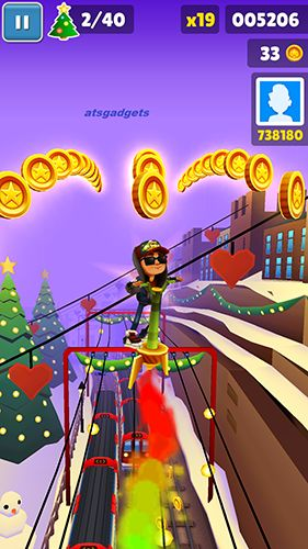 Скриншот Subway surfers: World tour London на андроид
