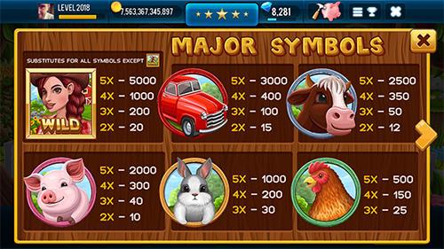Farm and gold slot machine: Huge jackpot slots game Screenshot