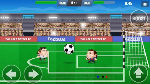 Online Mini football: Soccer head cup für das Smartphone