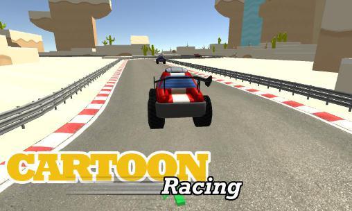 Cartoon racing car games Symbol