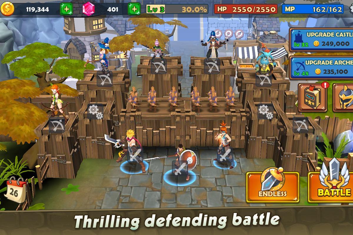 Castle Rush: Hero defender & Idle defense screenshot 1