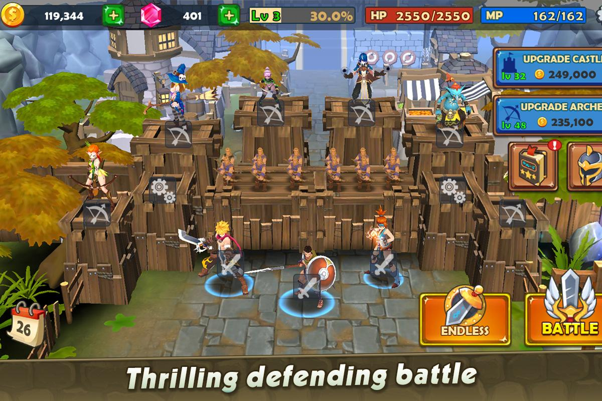 Castle Rush: Hero defender & Idle defense скриншот 1