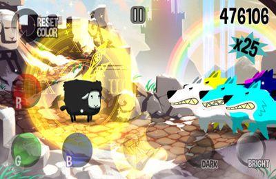 Screenshot Buntes Schaf auf dem iPhone