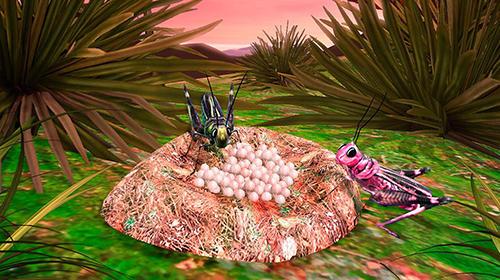 Grasshopper insect simulator