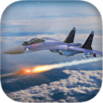 Airplane flight battle 3D icon