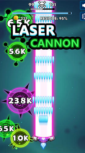 Arcade-Spiele Bio blast. Infinity battle: Fire virus! für das Smartphone
