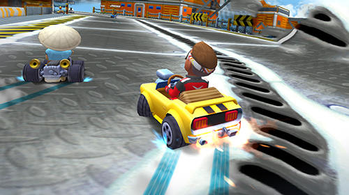 Course Boom karts: Multiplayer kart racing pour smartphone