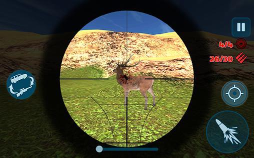 Actionspiele 4x4 offroad sniper hunter für das Smartphone