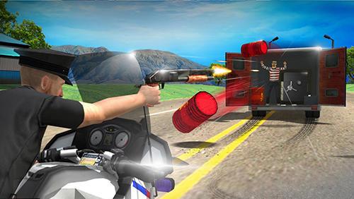 Straßenrennen Police vs thief: Moto attack auf Deutsch