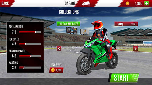 Rennspiele Bike race X speed: Moto racing für das Smartphone