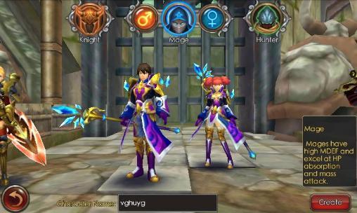 RPG War of Krystal für das Smartphone