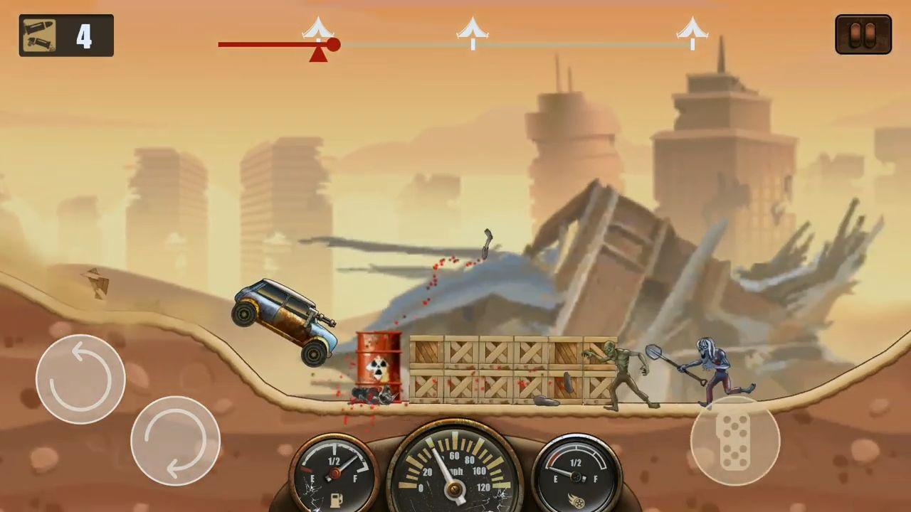 Zombie Hill Racing - Earn To Climb: Apocalypse скріншот 1