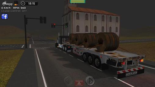 Simulação Simulador de grande caminhãopara smartphone