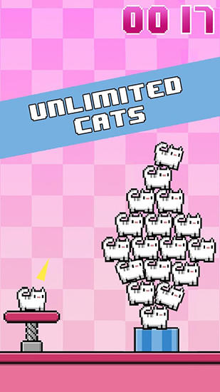 Cat-a-pult: Toss 8-bit kittens für Android
