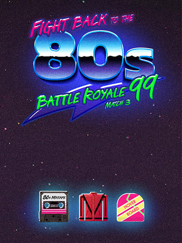 Fight back to the 80's: Match 3 battle royale Screenshot