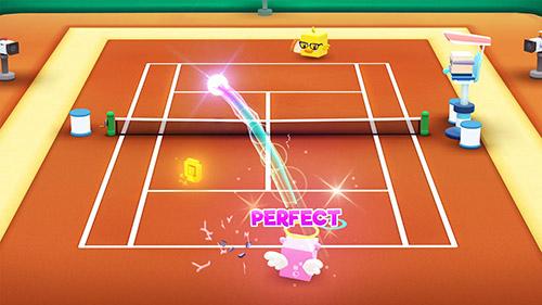Sportspiele Tennis bits für das Smartphone