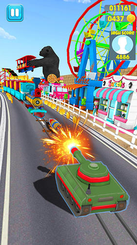 Madness rush runner: Subway and theme park edition screenshot 2