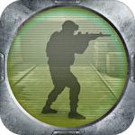 Army frontline shooting strike mission force 3D Symbol