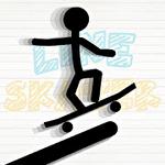 Line skater icon