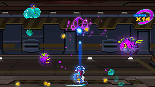 Mega shooter: Shoot em up. Space galaxy shooting für Android