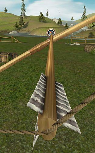 Schießstand-Spiele Bowmaster archery: Target range auf Deutsch