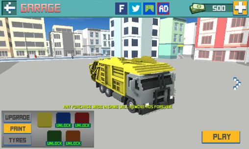 Truck Blocky garbage truck sim pro in English