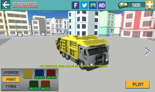 Truck Blocky garbage truck sim pro auf Deutsch