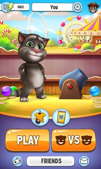 Talking Tom's bubbles captura de pantalla 1