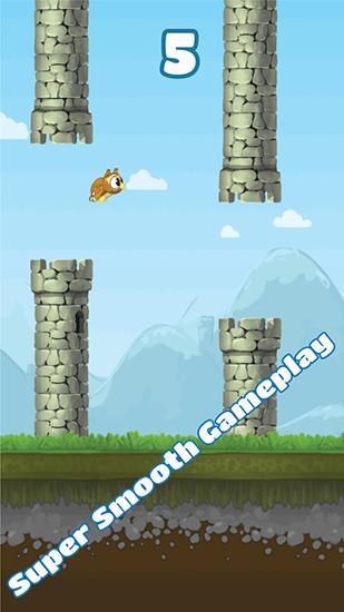 Arcade-Spiele Flappy owl für das Smartphone