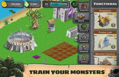 Screenshot Monstersiedlung - Wütende Monster auf dem iPhone