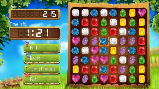3 Gewinnt-Spiele Jewels match 3 auf Deutsch
