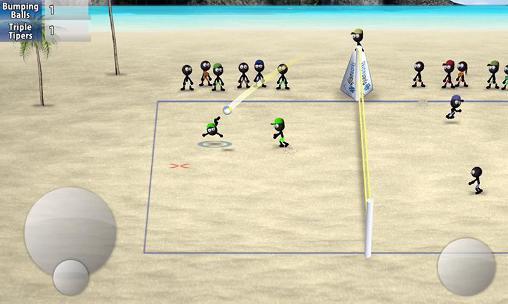 Volleyball Stickman volleyball auf Deutsch