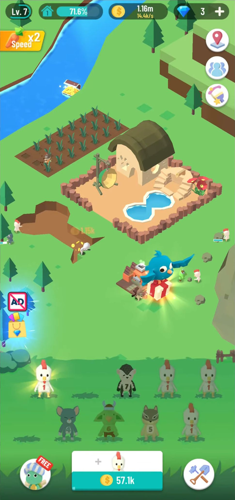 Idle Island: Build and Survive для Android