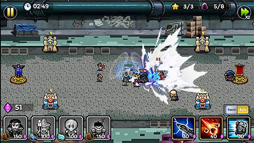 RPG-Spiele Warrior saga: No.1 free pixel MMORPG in 2018 für das Smartphone