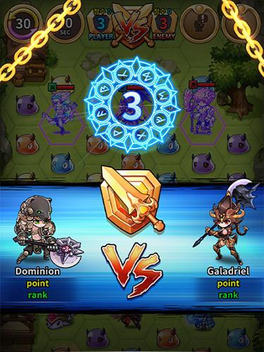 Logikspiele Triple chain: Strategy and puzzle RPG für das Smartphone