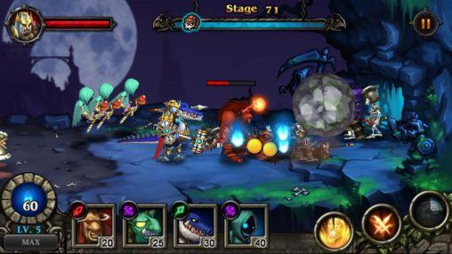 Arcade-Spiele Hero defense: Kill undead für das Smartphone