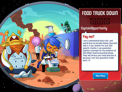 Strategiespiele Space food truck für das Smartphone