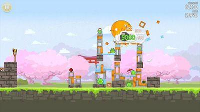 Logik-Shooter Angry Birds Seasons: Cherry Blossom Festival auf Deutsch