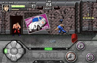Multiplayer games: download Double Dragon to your phone