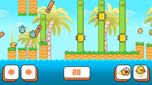 Pixelspiele Birdy McFly: Run and fly over it! auf Deutsch