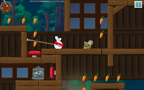 Rabbit samurai: Rope swing hero für Android
