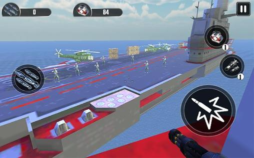 Navy gunner shoot war 3D für Android