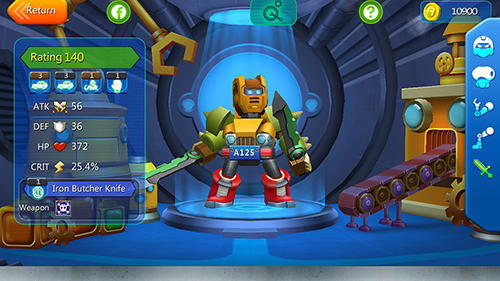 Actionspiele Herobots: Build to battle für das Smartphone