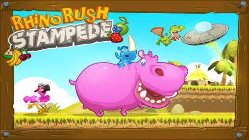 Rhino rush: Stampede captura de pantalla 1