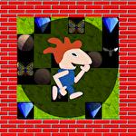 The gem hunter: A classic rocks and diamonds game Symbol