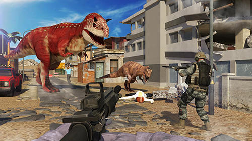 Dinosaur shooter 3D Screenshot