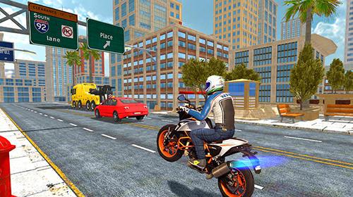 Moto rider auf Deutsch
