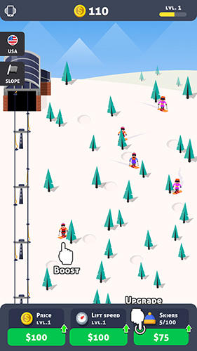 Arcade-Spiele Ski station für das Smartphone