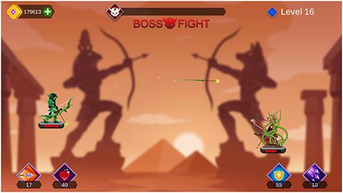 Strichmännchen-Spiele Arrow go! auf Deutsch