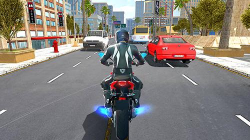 Rennspiele Moto rider für das Smartphone